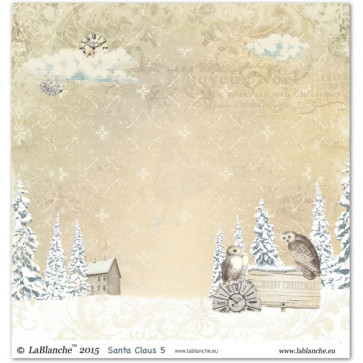 "LaBlanche Papers ""Santa Claus"" 5 Dobbeltsidet 12x12"""