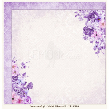 "LemonCraft Double Sided 12x12"" Scrapbooking Paper - Violet Silence 06"