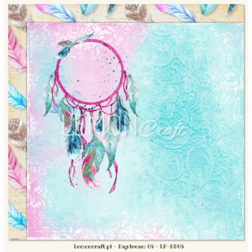 """LemonCraft Double Sided 12x12"""" Scrapbooking Paper - Daydream 06"""