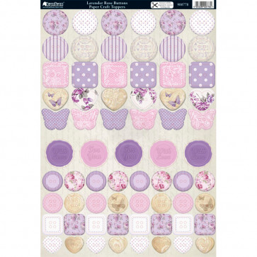 A4 Kanban Toppers - Lavender Rose Buttons
