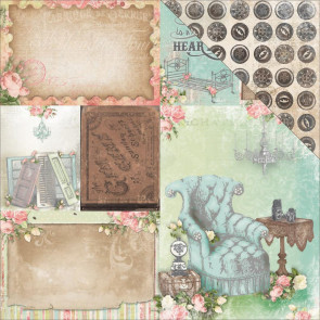 "BoBunny Soiree Double-Sided Cardstock 12x12"" - Home"