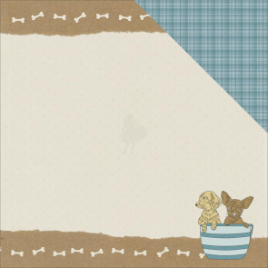 """KaiserCraft Pawfect Double-Sided Cardstock 12x12"""" - Puppy"""