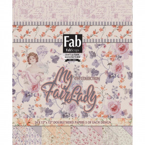 "FabScraps Double-Sided Cardstock Pad 12x12"" 24/Pkg - My Fair Lady"