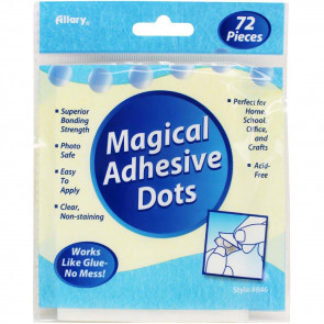 "Allary Magical Adhesive Dots .5""X.5"" 72/Pkg"