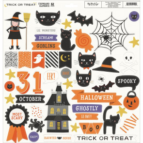 """My Minds Eye Trick Or Treat Chipboard Elements 12x12"""""""