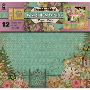 "Hot Off The Press Dobbeltsidet Paper Pack 12x12"" 12/Pkg - Garden Walk"