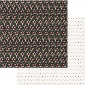 """Vintage Girl Double-Sided Cardstock 12x12"""" Tiny Prints Black Floral"""