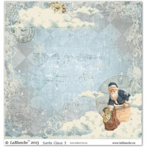 """LaBlanche Papers """"Santa Claus"""" 3 Dobbeltsidet 12x12"""""""