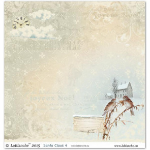 """LaBlanche Papers """"Santa Claus"""" 4 Dobbeltsidet 12x12"""""""