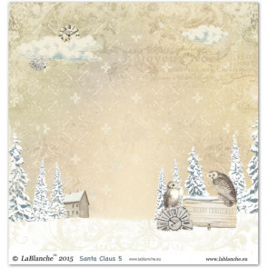 """LaBlanche Papers """"Santa Claus"""" 5 Dobbeltsidet 12x12"""""""