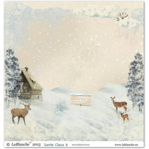 """LaBlanche Papers """"Santa Claus"""" 6 Dobbeltsidet 12x12"""""""
