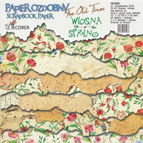 "Decorer Scrapbook Paper 12x12"" - The Old Times - Spring TASTER"