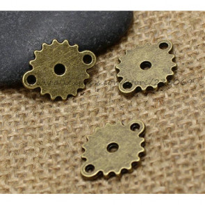 Findings Steampunk Gears 15x19mm - T0508 Antik Bronze