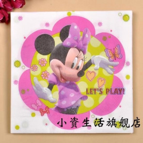 Decoupage Servietter - Disney Minnie Mouse Let's Play