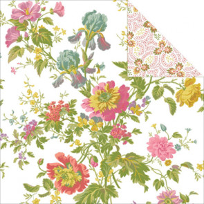 """Anna Griffin Olivia Double-Sided Cardstock 12x12"""" - Iris Floral/Ivory"""
