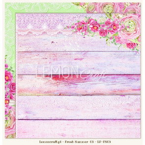 "LemonCraft Double Sided 12x12"" Scrapbooking Paper - Fresh Summer 03"