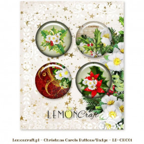 LemonCraft Christmas Carols Buttons / Badges