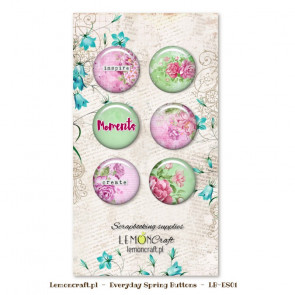 LemonCraft Everyday Spring Collection - Selfadhesive Buttons / Badges