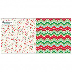 "Webster's Pages It's Christmas Dobbeltsidet Cardstock 12x12"" - Twinkle Twinkle"