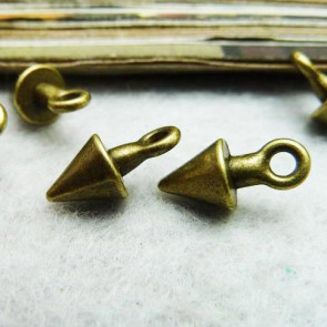 Findings Vintage Cone Charms 7x14mm - Antique Bronze