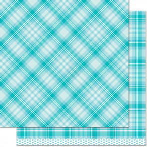 """Lawn Fawn Perfectly Plaid Double-Sided Cardstock 12x12"""" - Daniella"""