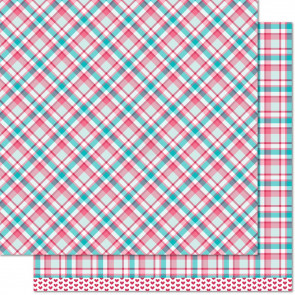 """Lawn Fawn Perfectly Plaid Double-Sided Cardstock 12x12"""" - Lynette"""