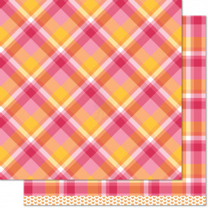 """Lawn Fawn Perfectly Plaid Double-Sided Cardstock 12x12"""" - Nicole"""