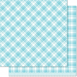 """Lawn Fawn Perfectly Plaid Double-Sided Cardstock 12x12"""" - Nancy"""