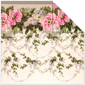 """Anna Griffin Camilla Double-Sided Cardstock 12x12"""" - Floral Border"""