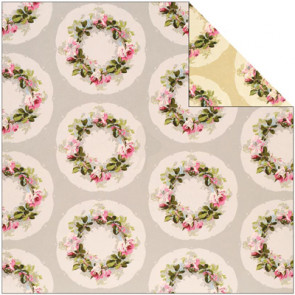 """Anna Griffin Camilla Double-Sided Cardstock 12x12"""" - Wreath"""