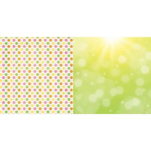 """BoBunny Lemonade Stand Double-Sided Cardstock 12x12"""" - Squeeze Me"""