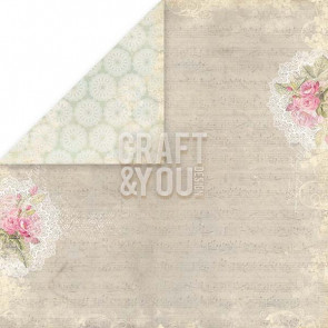 "Craft & You Design Wedding Garden Dobbeltsidet Cardstock 12x12"" Paper - 05"