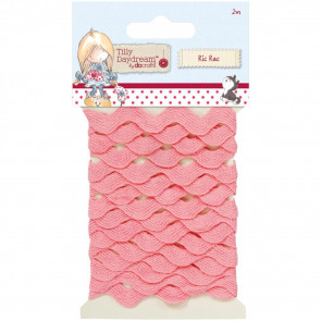 Docrafts Tilly Daydream Ric Rac Trim 8mm - Pink