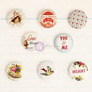 "Prima Marketing Delight Flair Buttons 1"" - 8 stk"