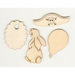 Belle and Boo Wooden Shapes