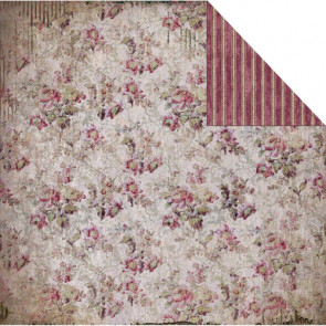 "FabScraps Dobbeltsidet 12x12"" Scrapbook Papir - Heritage Small Floral"