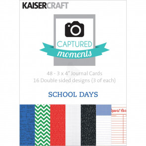 "KaiserCraft Captured Moments Double-Sided Cards 3x4"" - School Days TASTER"