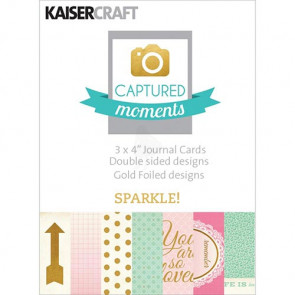 "KaiserCraft Captured Moments Double-Sided Cards 3x4"" - Sparkle! With Some Gold Foiled Designs TASTER"