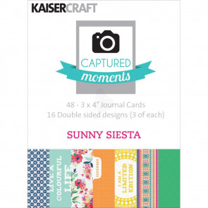 "KaiserCraft Captured Moments Double-Sided Cards 3x4"" - Sunny Siesta TASTER"