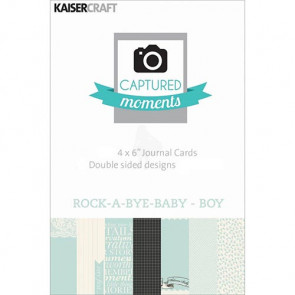 "KaiserCraft Captured Moments Themed Cards 4x6"" - Rock-A-Bye-Baby-Boy TASTER"