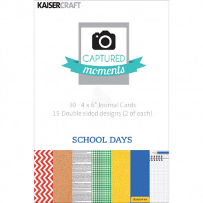 "KaiserCraft Captured Moments Double-Sided Cards 4x6"" - School Days TASTER"