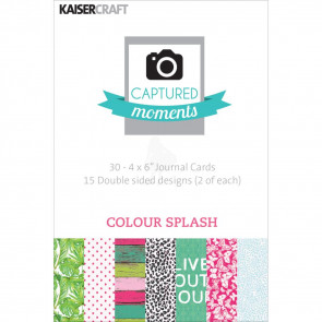"KaiserCraft Captured Moments Double-Sided Cards 4x6"" - Colour Splash TASTER"