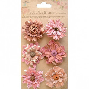 Little Birdie Fusion Blossoms Rustic Blush 6pcs Vintaj