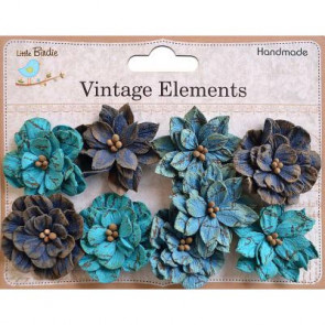Little Birdie Serenade Blooms Ocean Spray 9pcs Vintage Elements