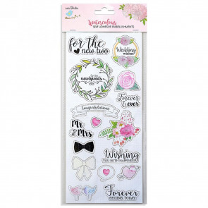 Little Birdie Water Color Sticker Collection Wedding Wishes 1pc