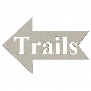 Trails Die-Cut Chipboard Word