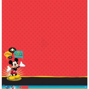 """Disney Speciality Paper 12x12"""" - Mickey Mouse Glitter Thermography"""