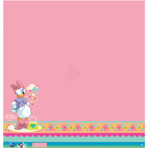 """Disney Speciality Paper 12x12"""" - Daisy Glitter Thermography"""