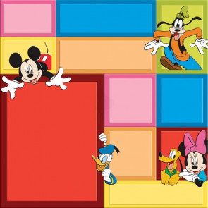 """Disney Speciality Paper 12x12"""" - Mickey Color Block"""