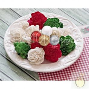 LemonCraft Christmas Greetings Collection - Paper FLower Set